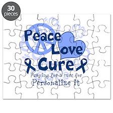 Blue Peace Love Cure Puzzle