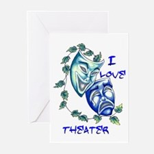 Ilove Theater Greeting Cards (Pk of 10)
