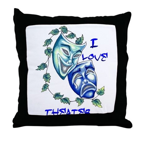 Ilove Theater Throw Pillow
