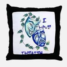 Ilove Theater Throw Pillow
