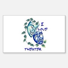 Ilove Theater Rectangle Decal