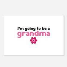 I'm going to be a grandma Postcards (Package of 8)