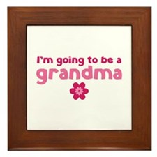 I'm going to be a grandma Framed Tile