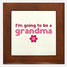 I'm going to be a grandma Framed Tile