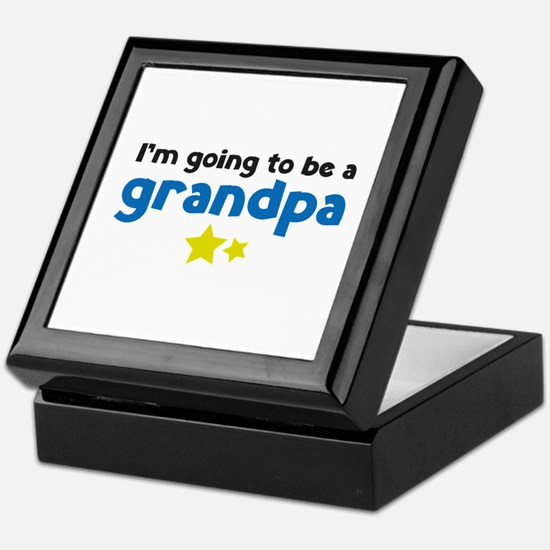 I'm going to be a grandpa Keepsake Box
