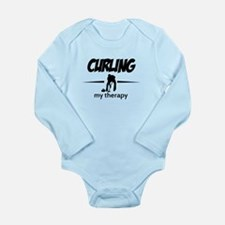 Curling my therapy Long Sleeve Infant Bodysuit