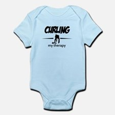 Curling my therapy Infant Bodysuit