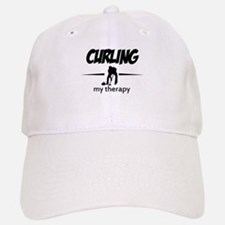 Curling my therapy Baseball Baseball Cap