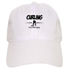 Curling my therapy Baseball Cap