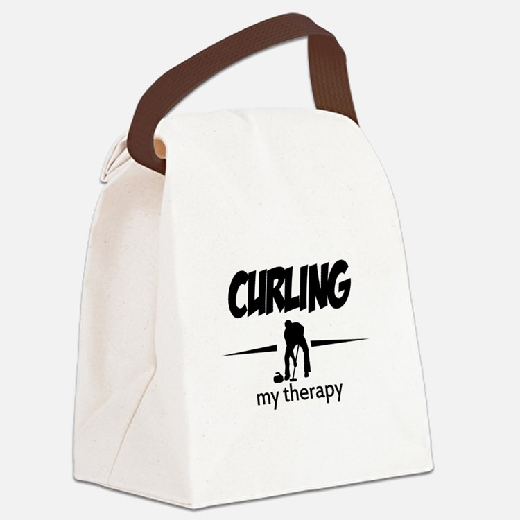 Curling my therapy Canvas Lunch Bag