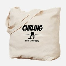 Curling my therapy Tote Bag