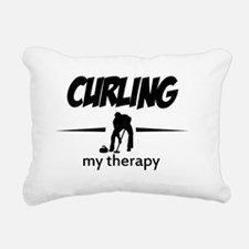 Curling my therapy Rectangular Canvas Pillow