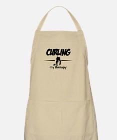 Curling my therapy Apron