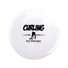"""Curling my therapy 3.5"""" Button"""