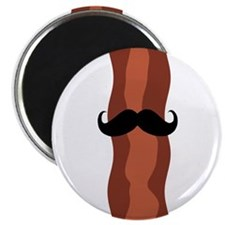 """Bacon Mustache 2.25"""" Magnet (10 pack)"""
