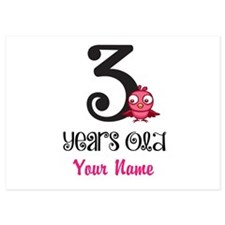 3 Years Old Baby Bird - Personalized Flat Cards