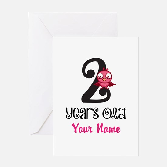 2 Years Old Baby Bird - Personalized Greeting Card
