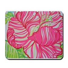 Hibiscus in Lilly Pulitzer Mousepad
