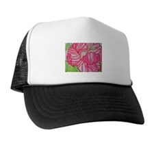 Hibiscus in Lilly Pulitzer Trucker Hat