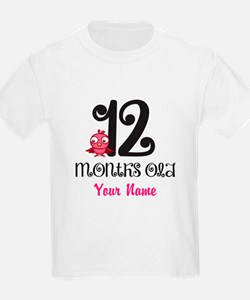 12 Months Old Baby Bird - Personalized T-Shirt