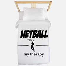 Netball my therapy Twin Duvet