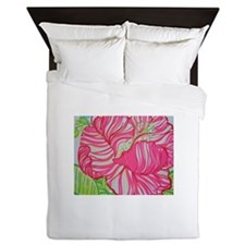 Hibiscus in Lilly Pulitzer Queen Duvet