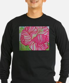 Hibiscus in Lilly Pulitzer Long Sleeve T-Shirt