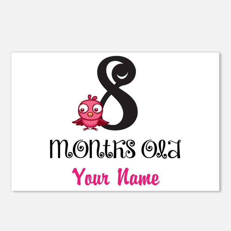 8 Months Old Baby Bird - Personalized Postcards (P