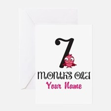 7 Months Old Baby Bird - Personalized Greeting Car
