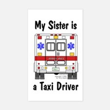 Taxi Driver Sister Rectangle Decal