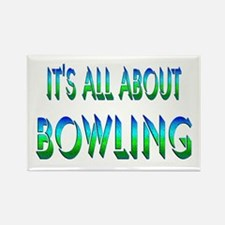 About Bowling Rectangle Magnet