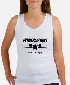Powerlifting my therapy Women's Tank Top