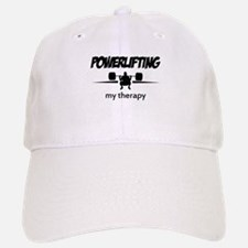 Powerlifting my therapy Baseball Baseball Cap
