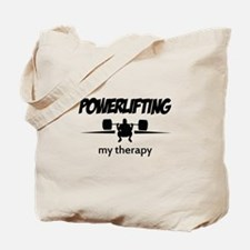 Powerlifting my therapy Tote Bag