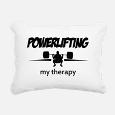 Powerlifting my therapy Rectangular Canvas Pillow