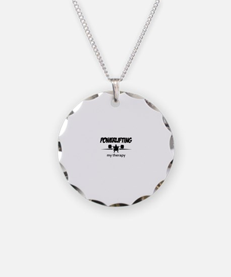 Powerlifting my therapy Necklace