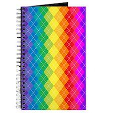Rainbow Argyle Pattern Journal