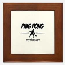 Ping Pong my therapy Framed Tile