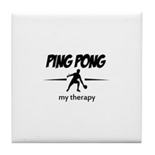 Ping Pong my therapy Tile Coaster
