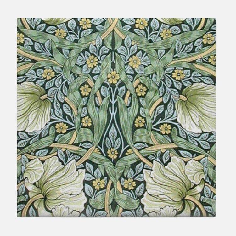 William Morris Pimpernel Design Tile Coaster