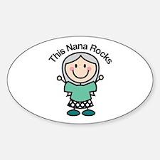 Nana Rocks Sticker (Oval)
