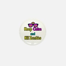 Crown Sunglasses Keep Calm And Kill Zombies Mini B