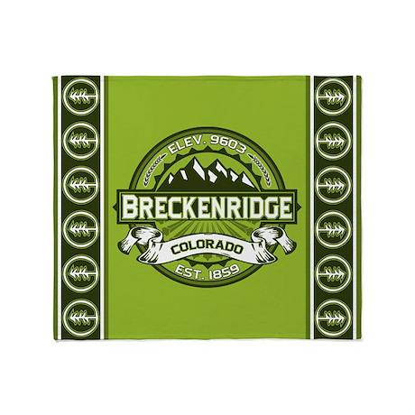Breckenridge Green Throw Blanket