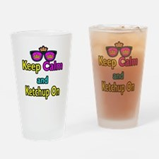 Crown Sunglasses Keep Calm And Ketchup On Drinking