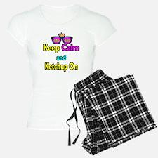 Crown Sunglasses Keep Calm And Ketchup On Pajamas