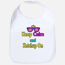 Crown Sunglasses Keep Calm And Ketchup On Bib