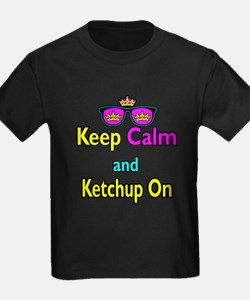 Crown Sunglasses Keep Calm And Ketchup On T