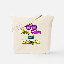 Crown Sunglasses Keep Calm And Ketchup On Tote Bag