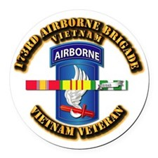 Army - 173rd Airborne Brigade w SVC Ribbons Round