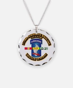 Army - 173rd Airborne Brigade w SVC Ribbons Neckla